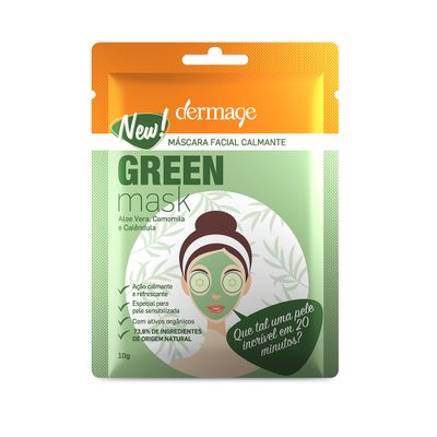 Mascara-Facial-Calmante-Green-Mask-Dermage